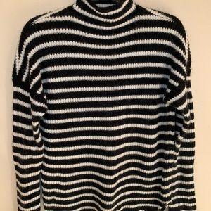 Express Black & White Warm Sweater